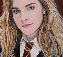 Miniature 'Hermione Granger' ACEO Card by Mike Paget