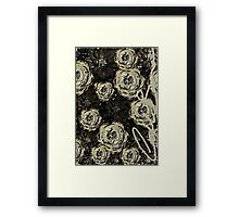 Catalea's Black Garden Framed Print