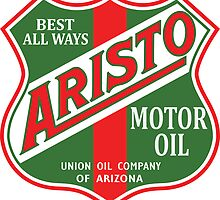 Aristo Motor Oil vintage sign reproduction by htrdesigns