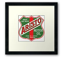 Aristo Motor Oil vintage sign reproduction Framed Print