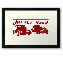 Hit the Road Hot-Rods Framed Print