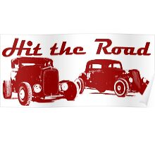 Hit the Road Hot-Rods Poster