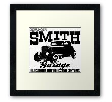 Mrs.& Mr. Smith Hot-Rod Garage Framed Print