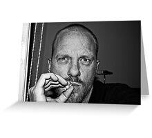 "Self Portrait ""smoking"" Greeting Card"