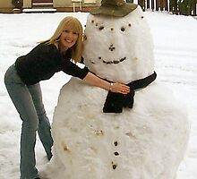 My snowman! by weecritter
