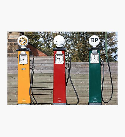 Petrol Pumps Photographic Print