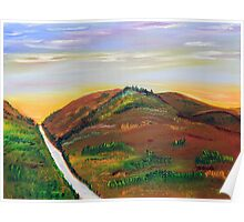 Sunrise in the Foothills Poster