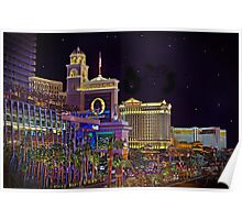 The Big Three Hotel/Casinos ~ Las Vegas Strip Poster