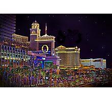 The Big Three Hotel/Casinos ~ Las Vegas Strip Photographic Print