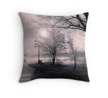 In the early morning rain Throw Pillow