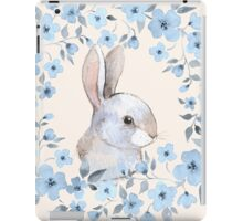 Rabbit and floral wreath iPad Case/Skin