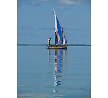 Boat and reflection Photographic Print