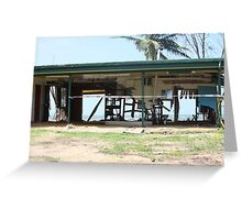 Water and Wind damage Cyclone Yasi - Tully Heads, North Queensland, Australia Greeting Card