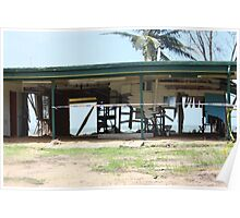 Water and Wind damage Cyclone Yasi - Tully Heads, North Queensland, Australia Poster