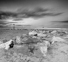 Rocky beach Cleethorpes by Keith Stocks