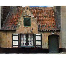 Old Fisherman's House - Blankenberge - Belgium Photographic Print