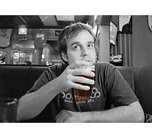 Beer Thinker (selective color) Photographic Print