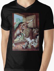 Heinrich Leutemann Wolf und sieben Geisslein 2 Mens V-Neck T-Shirt