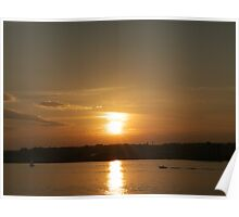 Sunset over Cardiff Bay Poster