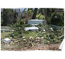 Tidal surge debris after Cyclone Yasi - Cardwell, North Queensland, Australia Poster
