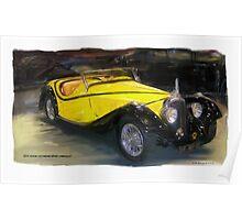 1934 Voisin C27 Grand Sport Cabriolet Poster