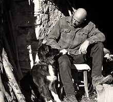 A man and his dog by Karen Havenaar