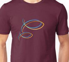 Christian Symbols-blue and gold Unisex T-Shirt