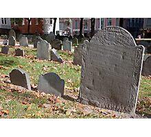 Old Granary Burying Ground, Boston Photographic Print