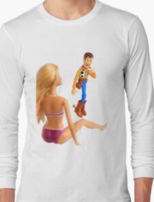 Woody sneaky peek Long Sleeve T-Shirt