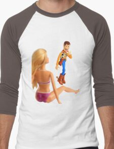 Woody sneaky peek Men's Baseball ¾ T-Shirt