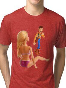 Woody sneaky peek Tri-blend T-Shirt