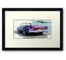 Classic Cadillac Convertable Framed Print