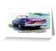 Classic Cadillac Convertable Greeting Card