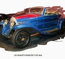 1931 Bugatti Roadster Type 40a by RGMcMahon