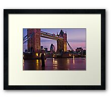 Dawn Light at Tower Bridge - London. Framed Print