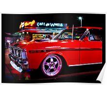 Fast Car, Fast Food Poster