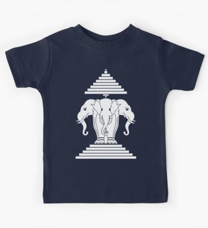 Erawan Lao / Laos Three Headed Elephant Kids Tee