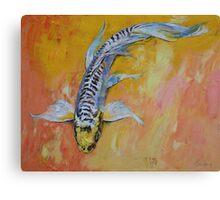 Yellow Dragon Koi Canvas Print