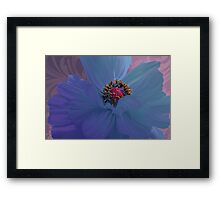 Afterglow, Vibrant, colorful poppy floral art Framed Print