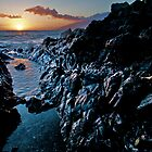 Lava Rock Sunset by Mark Iocchelli