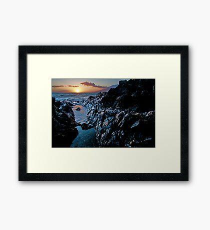 Lava Rock Sunset Framed Print
