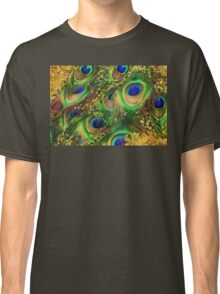 Fantasy Peacock Feathers laden with gold Classic T-Shirt