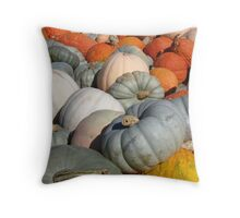 Multi-colored Pumpkins Throw Pillow