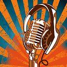 Retro Microphone/Headphones by KimberlyMarie
