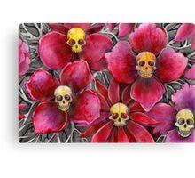 Skulls at the bottom of my garden Canvas Print