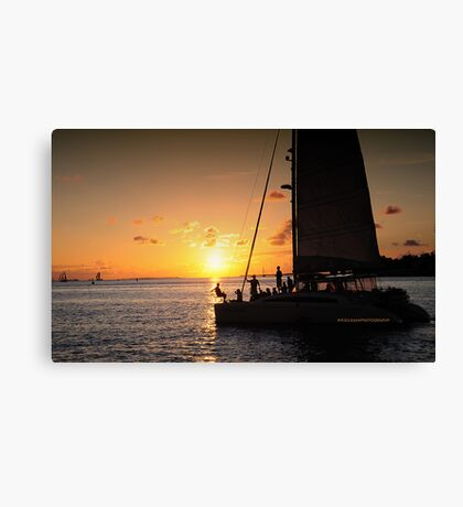 Sunset hounds Canvas Print