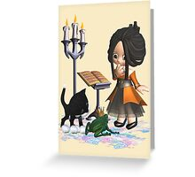 A witch in big trouble .. tee shirt Greeting Card