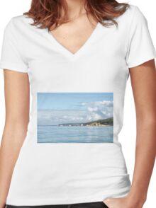 Along The Dorset Coastline Women's Fitted V-Neck T-Shirt