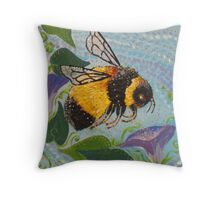 Miss Bumble Throw Pillow