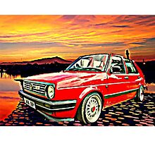 Red stripe Photographic Print